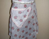 RETRO  DOTTED SWISS APRON