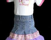 SALE 30% OFF Upcycled Denim Tutu Skirt size 5