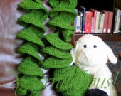 Kelly Green Swirly Scarf - Made to Order