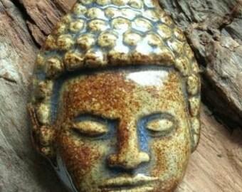 Buddha Necklace Handmade Stoneware clay
