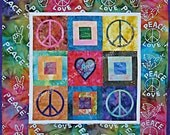 Peace of Your Heart Quilt Pattern by Just Imagine Design, Wall Hangings, Peace Sign