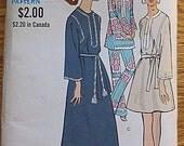RARE Vintage 60's Boho Misses' One-Piece Caftan, Dress, Tunic and Pants Vogue 7827 Pattern Size 10