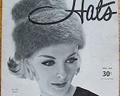 Vintage 60's Knit and Crochet Book, High Fashion Hats, Vol. 62 Fleisher, Bear Brand, Botany