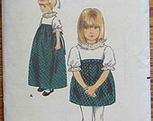 RARE Vintage 60's Bill Atkinson Girl's Quick and Easy One-Piece Dress in 2 Lengths Butterick 3776 Pattern Size 6
