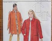 Misses' Jacket, Coat, Burda 4641 Sewing Pattern UNCUT Sizes 10-20