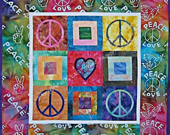Peace of Your Heart Wall Hanging Quilt Pattern by Just Imagine Design