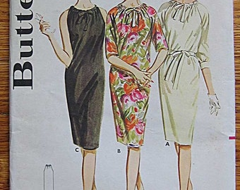 RARE Vintage Misses's Drawstring Neck Dress Sewing Butterick 2936 Pattern UNCUT Size 12, Bust 32""