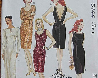 Easy Misses' Dresses in 2 Lengths, McCall's 5144 Sewing Pattern UNCUT Size 6