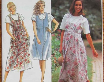 Misses' Jumper in 2 Lengths and Top, Simplicity 7666 Sewing Pattern UNCUT Sizes 4-10