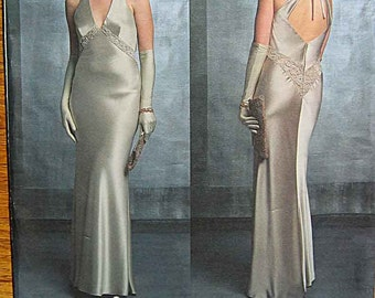 Misses' Bellville Sassoon Halter Evening Gown, Vogue 2840 Sewing Pattern UNCUT Sizes 6, 8, 10