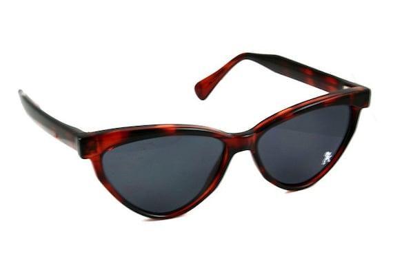Vintage 80's retro 1950's brown colour cats eyes  Hi Tek Sunglasses
