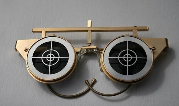 vintage gold steampunk flip up SUNGLASSES goggles mask Hi Tek Designs