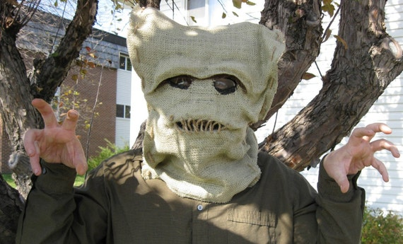 Sewn Mouth Sack Face Scarecrow Mask Hood Dr. Who Halloween Sale