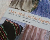 Hard Cover Book with Over 60 Patterns for Quick Stitch Crochet Afghans