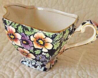 Vintage Royal Winton Grimwades Made In England Floral Creamer