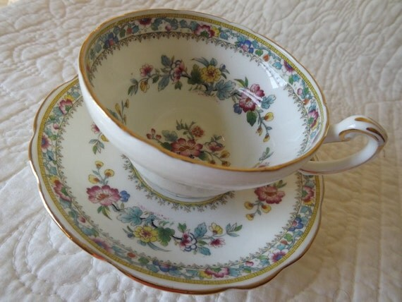 """Vintage Foley China """"Ming Rose"""" Cup and Saucer"""