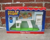 1989 Fisher Price Drive in Movie Playset in Box