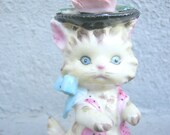 Adorable Vintage Fancy Kitten