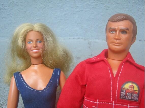 1970s Six Million Dollar Man and Bionic Woman Dolls