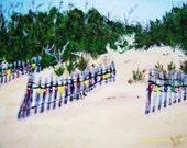 Beach Lights on the Dunes Original Art for Beach Lovers FREE SHIPPING