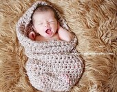 Cocoon Teddy Bear Set 2 pcs Newborn Baby Photo Prop in Browns Hat and Cocoon Photography Set Newborn Infa t Girl Boy Photo Shoot more COLORS