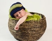 Newsboy Hat Newborn Baby Cap Photo prop in NAVY - Photography Session - Choice your Color...