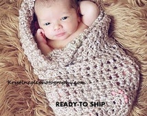 Cocoon Baby wrap Photo prop in BROWNS - Photography Prop Newborn Babies Infant Girl Boy Photo Shoot The Perfect GIFT New Baby Newborns Wrap