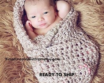 Cocoon Newborn Baby wrap Photo prop in BROWNS Photography Prop or ANY COLOR Infant Girl Boy Photo Shoot all Babies Photography Newborns Gift
