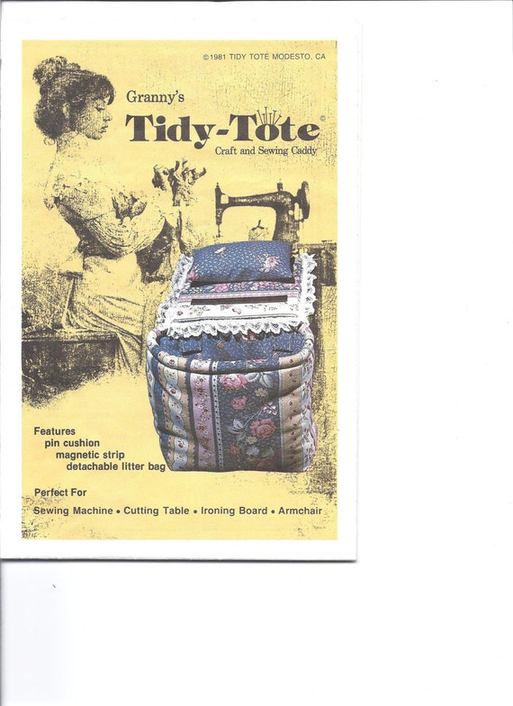 grannys tidy tote pattern for craft and sewing caddy. Black Bedroom Furniture Sets. Home Design Ideas