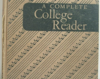 Vintage book 1950 College Reader