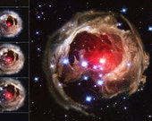 Monocerotis Flash -- 13x9 Hubble Print on Glossy Paper