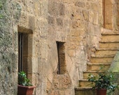 """Fine Art Color Architecture Photography of France - """"Steps on a Side Street in Sarlat"""""""
