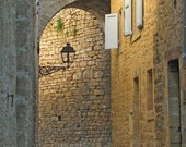 """Fine Art Color Architecture Photography of France - """"Arched Passage in Sarlat"""""""