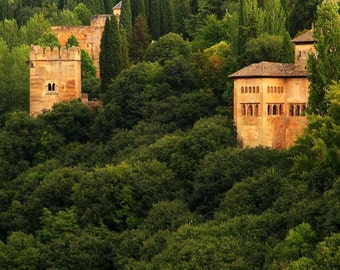"Fine Art Color Landscape Photography of the Alhambra - ""View of the Alhambra 1"" (Spain)"