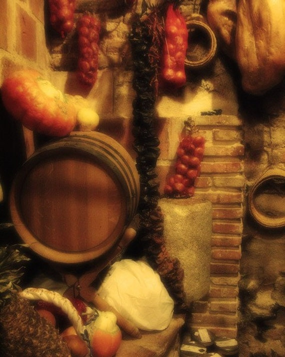 """Fine Art Color Food Photography of Wine and Food Scene  - """"Madrid Still Life 2"""""""