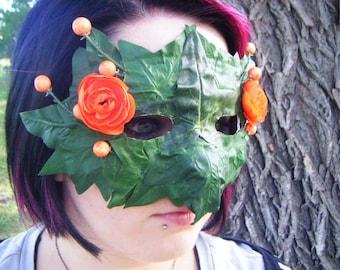 Orange Flower and Ivy Mask