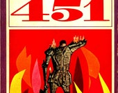 Vintage Fahrenheit 451 book cover photographic art print