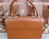 Saks 5th Ave Purse Cocoa Brown Leather Purse Stamped Saks 5th Avenue Double Handled Fun Little Purse