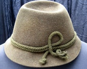 Swiss Alpine  Hat  Mountaineers Hat Lurati Label Made in Switzerland 100% Wool Sound of Music Garb