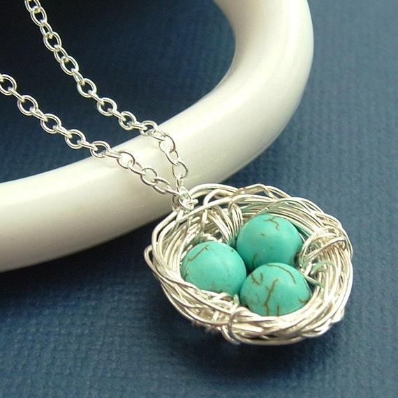 Jewelry, Birds Nest Jewelr , Nest Necklace, Eggs In A Nest, Robins Eggs, Mother And Child Necklace, Gift For Mom, Ask Questions