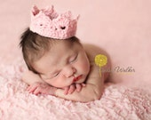 Jailey Bugs Custom Crochet Crown Tiara Photo Prop - Newborn - Photography Prop