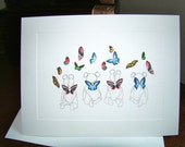 Blank Greeting Card - Babies with Wings - Baby Shower Invitations