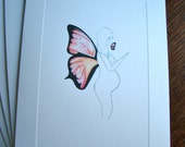 Print - Blank Greeting Card - Woman with Wings