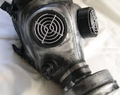 STEAMPUNK GAS MASK - Distressed Apocalyptic, Futuristic Full Face Survival Mask with Filter-Silver/Pewter