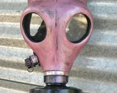 Amethyst - Pink Gas Mask with Air Filter - Steampunk,  Apocalyptic, Futuristic, Survival Mask