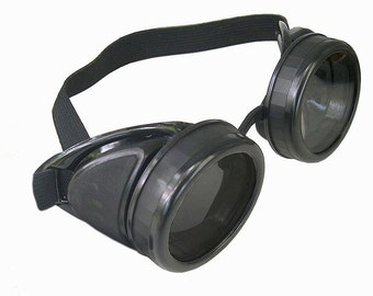STEAMPUNK GOGGLES - Basic Black Gothic Cyber Rave DIY  'Do It Yourself' Project Glasses