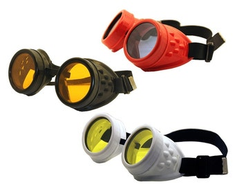 Basic Cyber-Rave STEAMPUNK Goth/Punk Clubbing Goggles-comes in 4 colors
