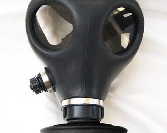 All Black Fully Functional Apocalyptic, Futuristic Full Face Survival Gas Mask with Filter - A BURNING MAN Must Have