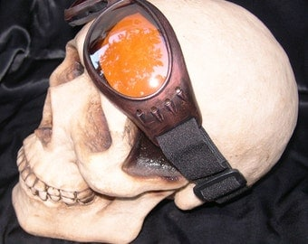 Distressed Antique-Look COPPER 'RUST' STEAMPUNK Cyber Rave Goggles