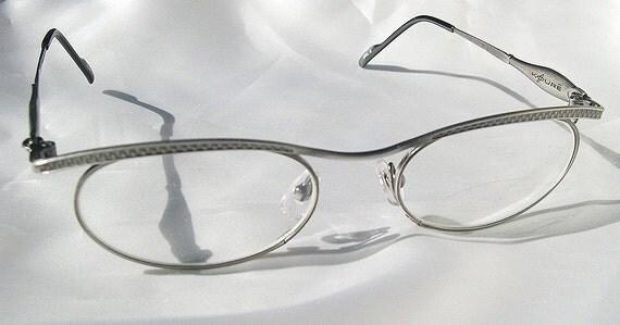 KOURE 8118a Vintage STEAMPUNK 'ZIPPER' Treatment Glasses - Gunmetal Oval Frame Eyeglasses